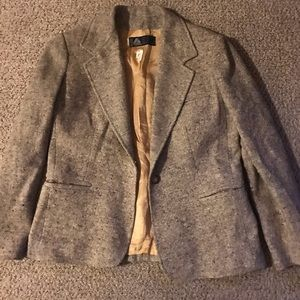 Vintage cream and tan wool blazer